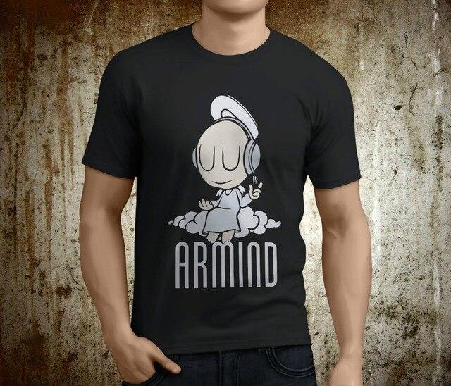 R$ 53 21 8% de desconto|T personalizado Camisas Online Premium O Neck  Popular Armind Música Trance Armin Van Buuren Preto Curto Luva T Dos Homens
