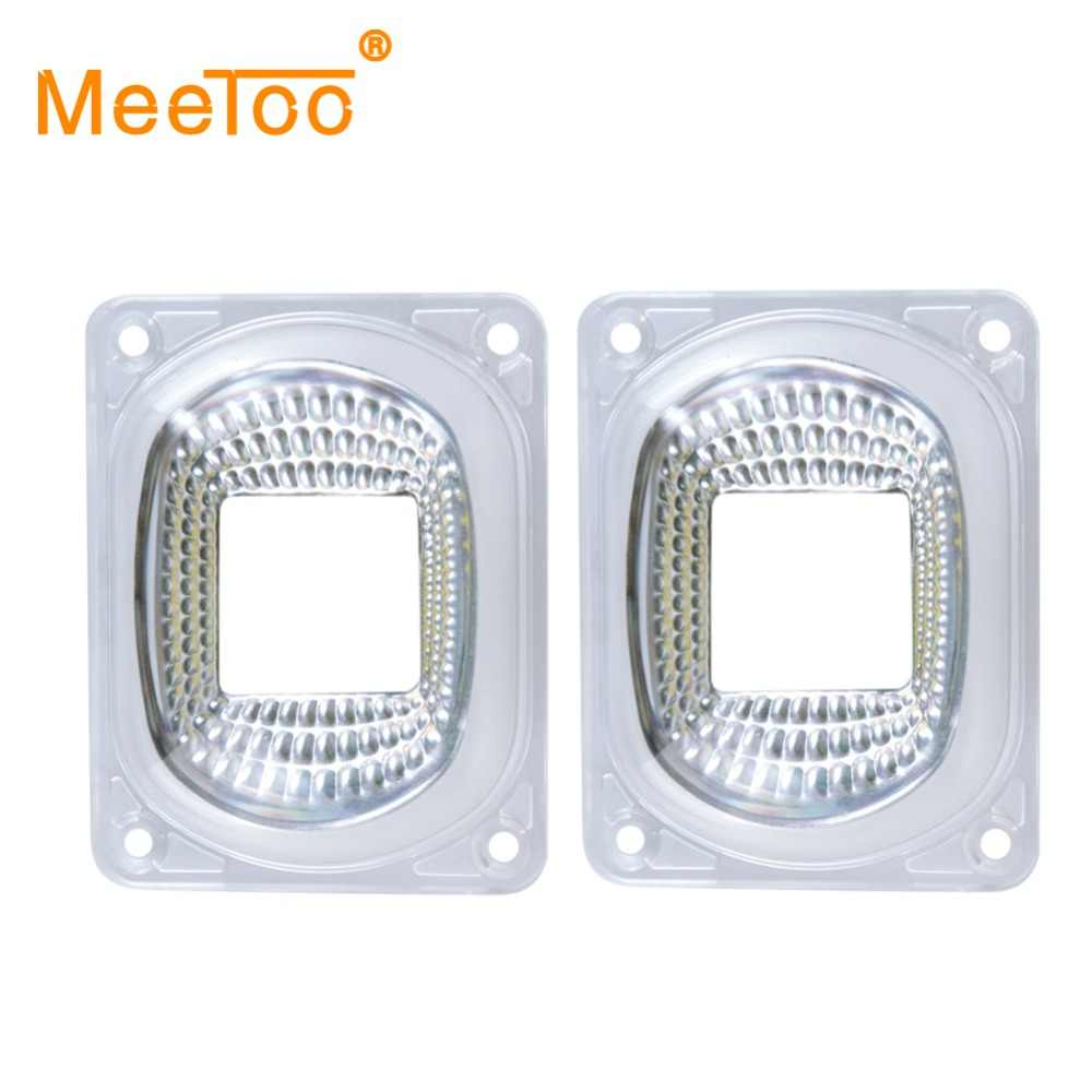 LED Lens Reflector For LED COB Chip Lamp Cover Shades lampshade FloodLight DIY LED Lens+Reflector Collimator+Fixed Silicone Ring