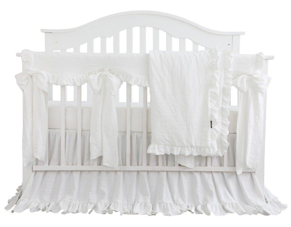 Blush Coral Pink Ruffle Crib Bedding Set Baby Girl Bedding Blanket Nursery Crib Skirt Set Baby Girl Crib Bedding Sheet