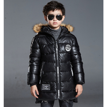 New 2016 Top Quality Boys Winter Jackets with Big Fur Hood Fashion Boys Down Coats Children Outerwear Boys Winter Parka for 5-14
