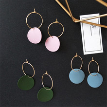 Fashion Earrings retro geometric metal Round exaggerated earrings, womens exquisite jewelry, jewelry wholesa