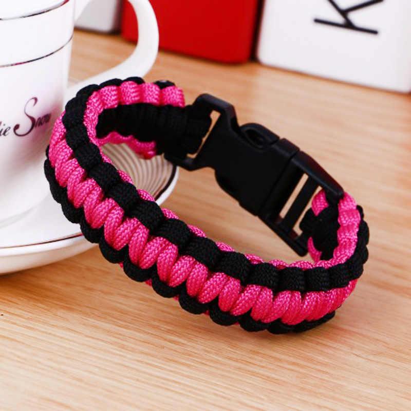 Оригинальный Новый Открытый Кемпинг браслет-Паракорд для выживания для мужчин походный карабин браслеты женские мужские ювелирные изделия подарок