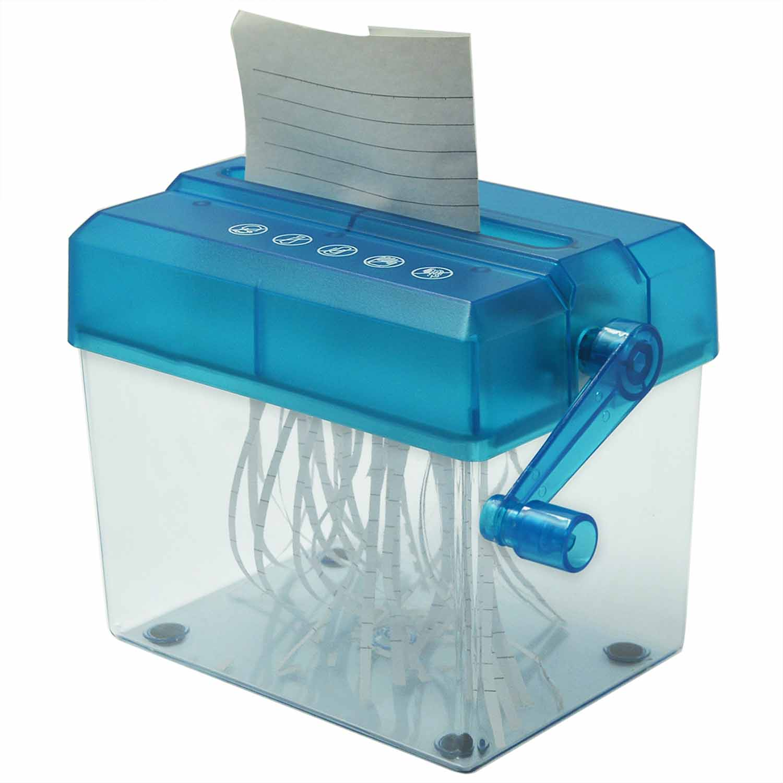 mini portable personal home office desktop manual hand crank paper cutter paper hand shredder destructora de - Home Shredders