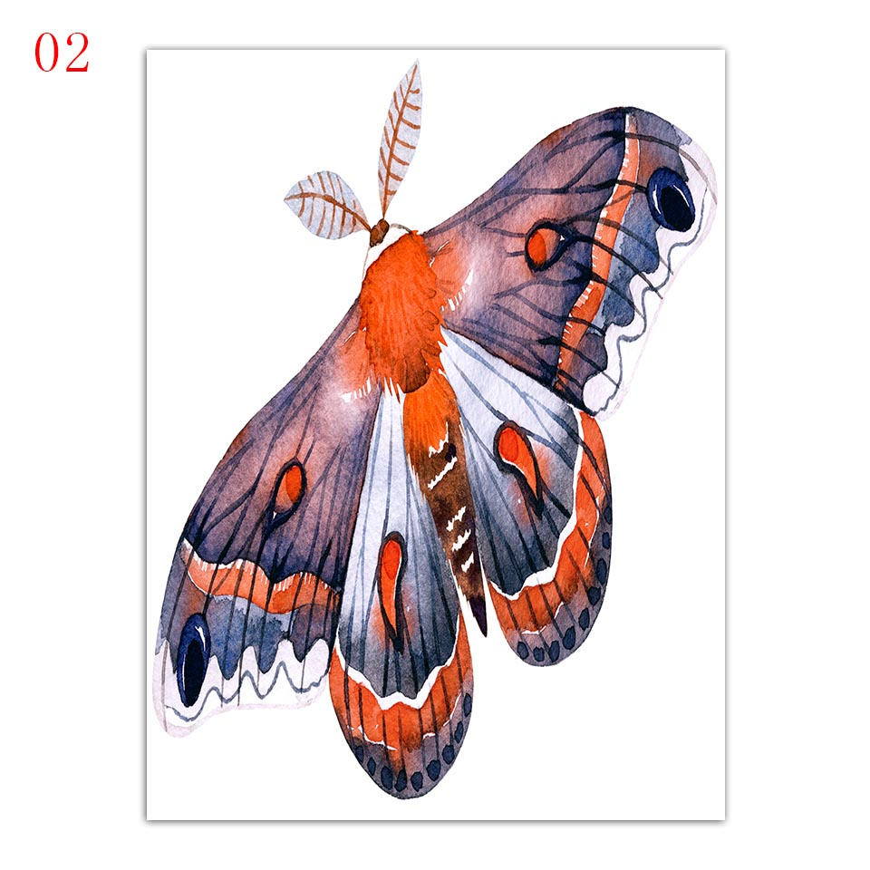 Wall-Art-Printing-Modern-Fashion-Nordic-Style-Poster-Ladybugs-Butterfly-And-Flower-Minimalism-Canvas-Paintings-Decor (4)