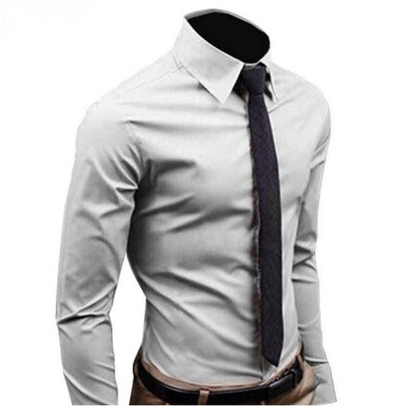 Men Shirt Long Sleeve Fashion Mens Casual Shirts  1