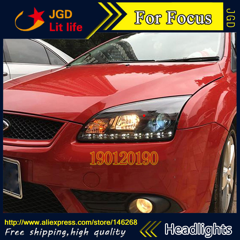 high quality ! HID LED headlights headlamps HID Hernia lamp accessory products case for Ford Focus 2005-2008 Car styling 1 pair front bumper headlights headlamps rh lh for ford focus 2005