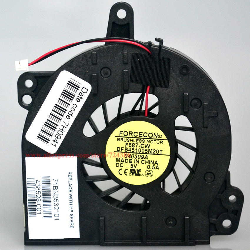Hot Sale New 500 510 laptop fan for HP compaq 500 510 cooler 520 530 C700 cpu fan, New genuine notebook 520 530 cpu cooling fan 2017 hot sale death note notebook