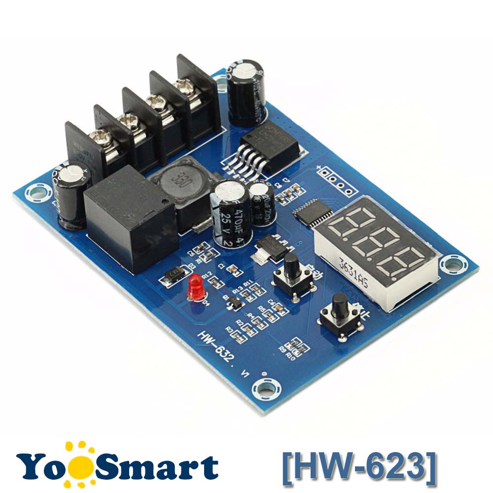 20A Support Generator And Solar Panel Supply Charge Control Module For 12V 24V Lead-acid Lithium-ion Battery 10V to 30V DC Input