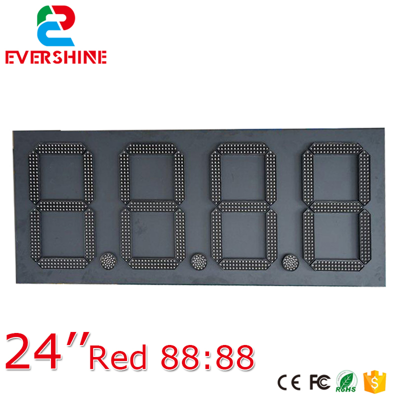 24 88.88 customized 7segment Digital led fuel gasoline board Red outdoor waterproof led gas station price signs board