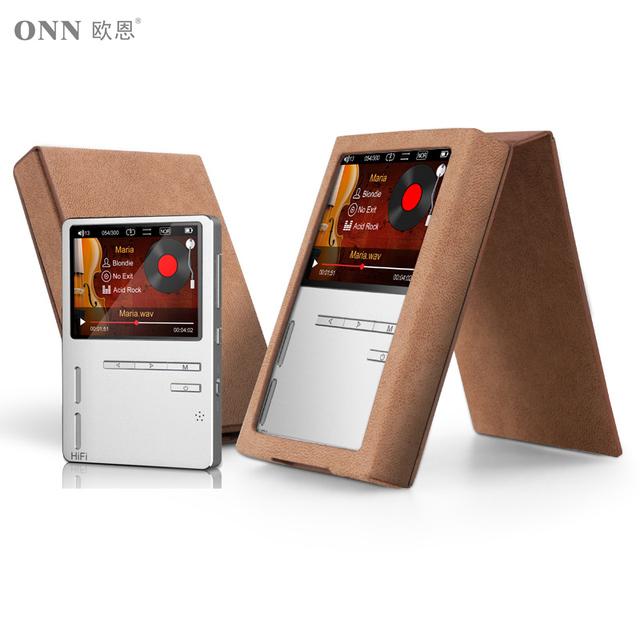 Onn originais x6 hifi mp3 de alta resolução de áudio player com tela hd fm speaker baixo apoio ape/flac/alac/wav/wma/ogg/mp3