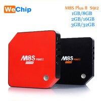 Android 6.0 ТВ коробка M8s PLUS II Декодер каналов кабельного телевидения Amlogic S912 1 г/8 г 2 г/16 г 3G/32 г Gigabit 2 Wi-Fi Bluetooth 4.0 Умные телевизоры коробка