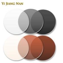 Yi Jiang Nan 브랜드 1.61 색인 포토 크로 믹 브라운 및 그레이 글레어 컬러 모노 모노 카멜레온 렌즈 전환 유리 조리법