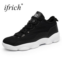 Ifrich 2017 Men Women Basketball Sports Sneakers Cheap Couples Basketball Shoes Comfortable Sport Trainers Black