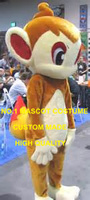 Chimchar(Hikozaru) mascot costume adult Pocket Monster Anime Cosply Costumes Fancy Dress 1998