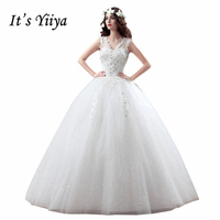 Summer Style Real Photo Tulle Transparent V Neck Wedding Dresses Cheap White Bride Gowns Custom Made