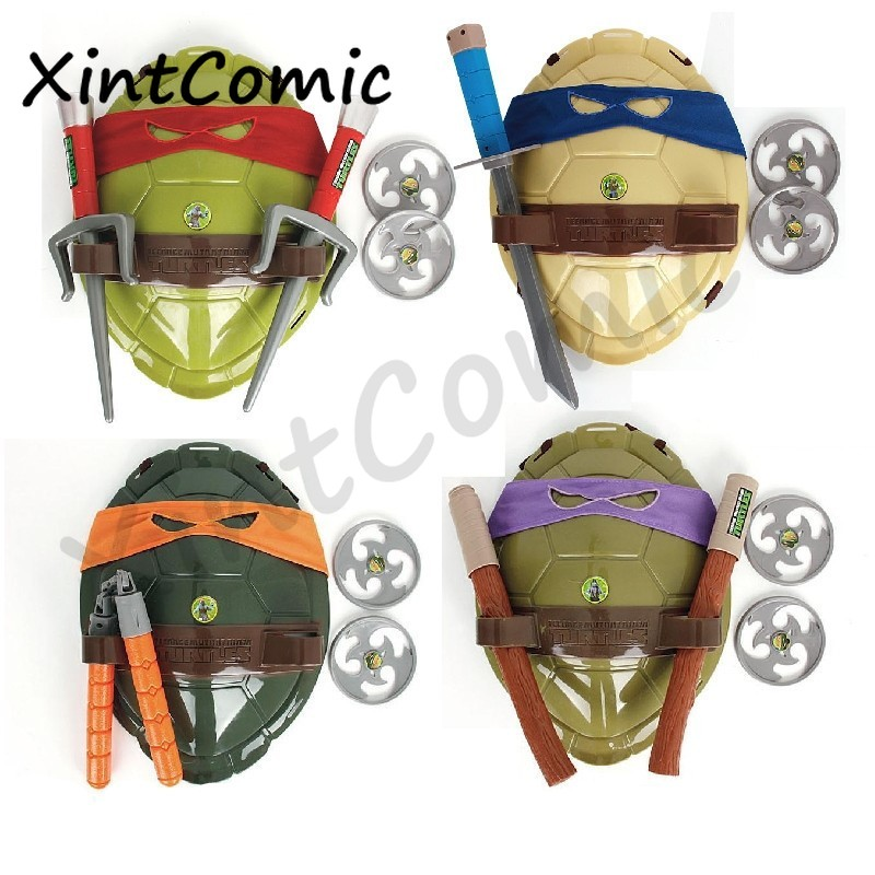 Kids Turtles Toys Cosplay Props Weapons Christma Gifts Anime Leonardo Raffaele Michelangelo Donatello Set Boys Girls Ninja