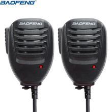 BaoFeng altavoz UV 5R de mano Baofeng, Original, con micrófono, PTT, para Walkie Talkie BaoFeng UV 5R Plus, BF 888S, Radio UV B6 UV 10R, 2 uds.