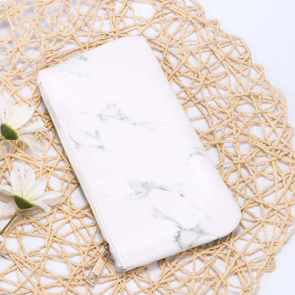 Ladies White Beauty Fashion Simple Design Bag Zipper