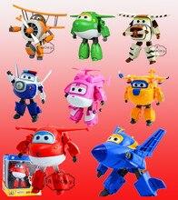 Tamaño grande 15 cm Ventas Calientes Alas Súper ABS Aviones Avión robot Transformación Robots Figuras de Acción Juguetes Regalos Brinquedos JETT