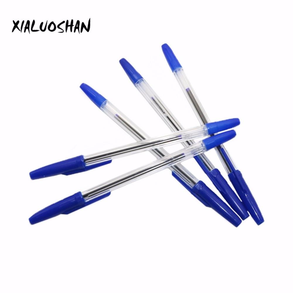 10 Pcs/lot Bullet Ballpoint Pen Ball-point Pen 0.7mm Blue Ink Dedicated Novelty Gift Zakka Material Office School Supplies