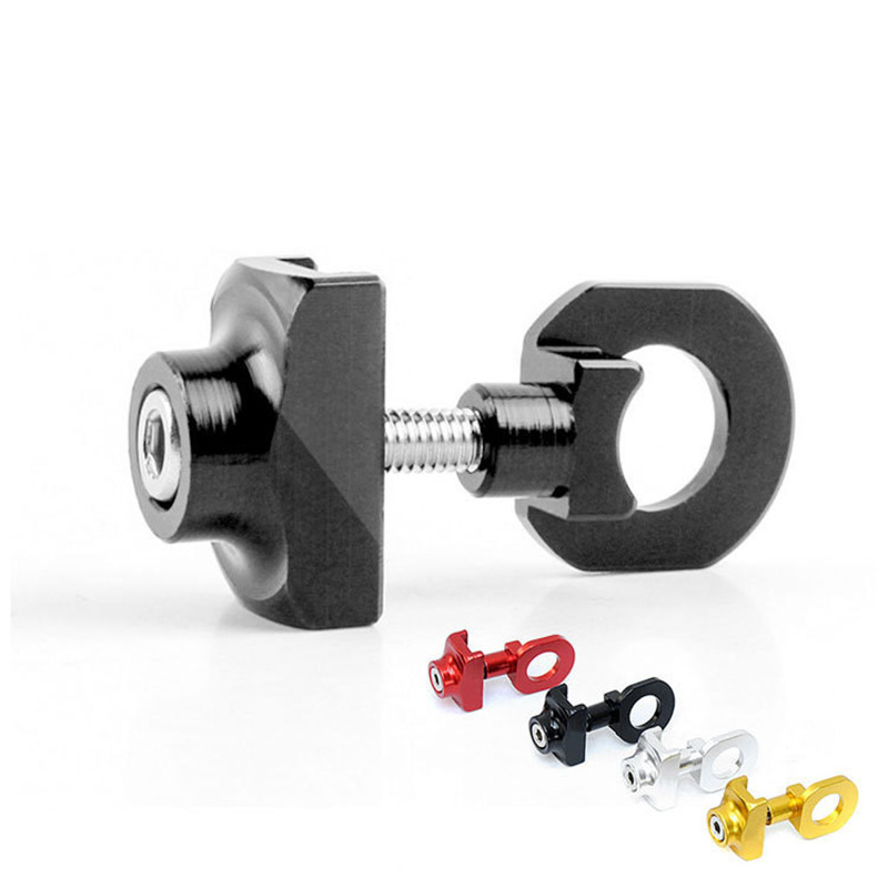 Image 5 - Bicycle Chain Adjuster Tensioner Fastener Aluminum Alloy Bolt For BMX Fixie Bike Single speed Bicycle Bolt Screw