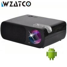 WZATCO Proyector 3000 Lúmenes Android 4.4 Wifi Smart Mini Soporte Proyector 1080 P LLEVÓ el Proyector para Cine En Casa proyector proyector