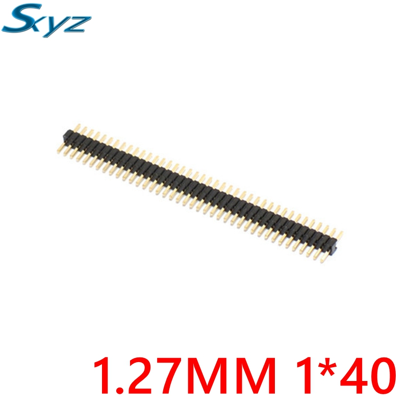 10pcs 40 Pin 1x40 Single Row Male 1.27 Breakable Pin Header Connector Strip for Arduino цена