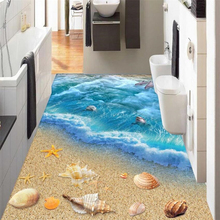 Beibehang 3D Ocean World Floor Bedroom Bathroom Kitchen Self-adhesive 3D Floor Wallpaper Modern home floor decoration wallpaper цена 2017