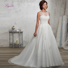 Liyuke A-line Wedding Dress Lace Appliques Beading Backless