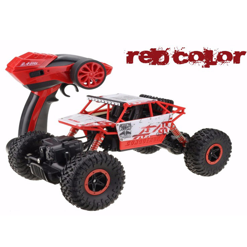 JMT 1:18 RC автомобиль 4WD 2,4 ГГц восхождение автомобиль 4x4 двойные двигатели Bigfoot автомобиль дистанционного Управление модель с внедорожник игру...