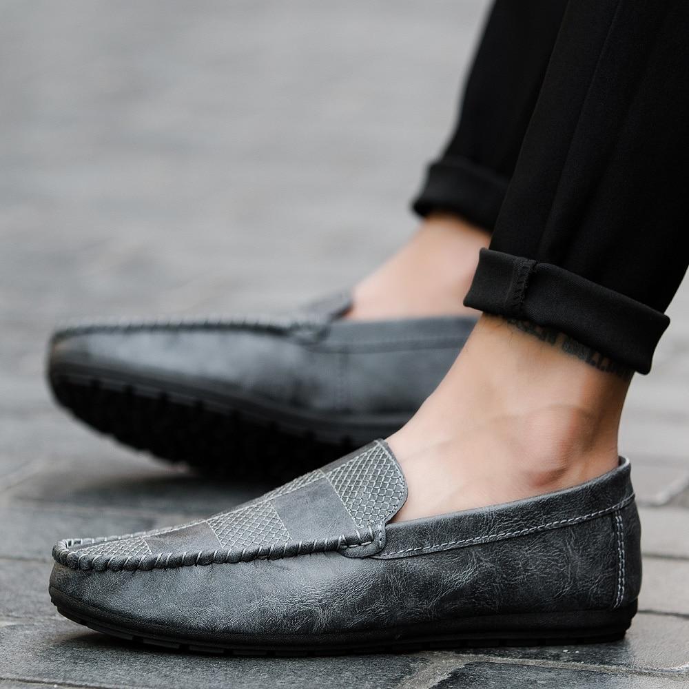 Semelle gris Mode Casual Plaid Talon Slip Rouge Goxpacer Bas Laçage Plat Souple Automne Chaussures Mocassins vin top Respirant on Noir Hommes ASqxqU6w8