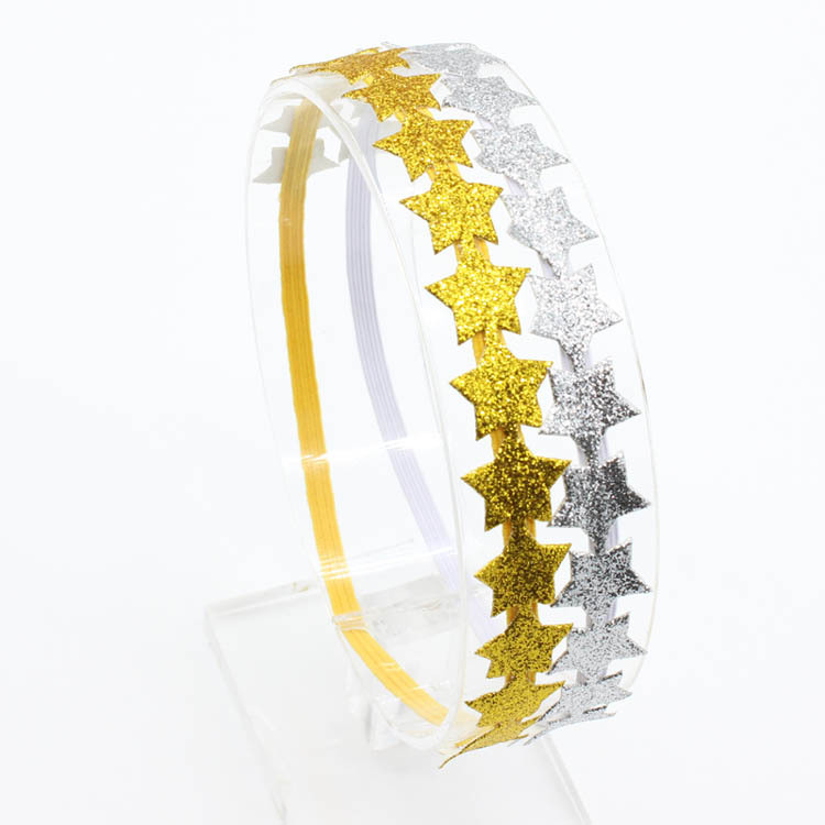 Sliver sequin star Headband Christmas gifts Gold Headbands Twinkle Twinkle  Little Star Hair Accessories c35aab6bf96