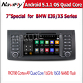 Android 5.1.1 Quad core GPS Автомобильный DVD для E39 E53 X5 с Wi-Fi 1024X600 HD экран с Bluetooth Радио RDS Бесплатная доставка
