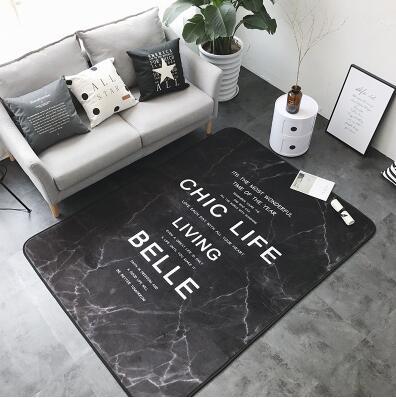 Noridc 150x190 cm INS grand Super doux flanelle tapis nordique 15mm épaissir salon tapis tapis tapis de jeu tapis antidérapant couverture