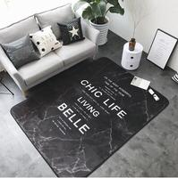 Noridc 150x190cm INS Large Super Soft Flannel Nordic Rug 15mm thicken living room Carpet tapis play mat Non slip rug blanket