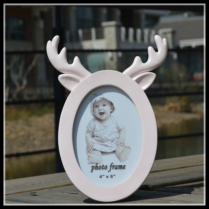 ElimElim Deer Photo Frames Resin Picture Frame Family Carfts ...