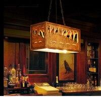 Amerikaanse stijl Hanglampen landelijke originaliteit retro industriële wind loft bar persoonlijkheid koffie boot massief houten Hanglamp