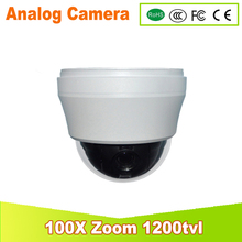 DHL Free shipping 100X Optical Zoom IP66 1/3″Super HAD II Sony CCD Effio-e 1200TVL Outdoor Mini High PTZ Camera Analog Camera