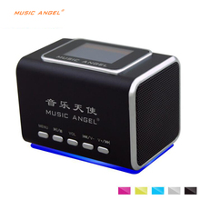 Origianl Music Angel JH-MD05X Portable Usb TF Card Sounding Speakers With FM RADIO With Line in Mp3 PC Speakers altavoz usb