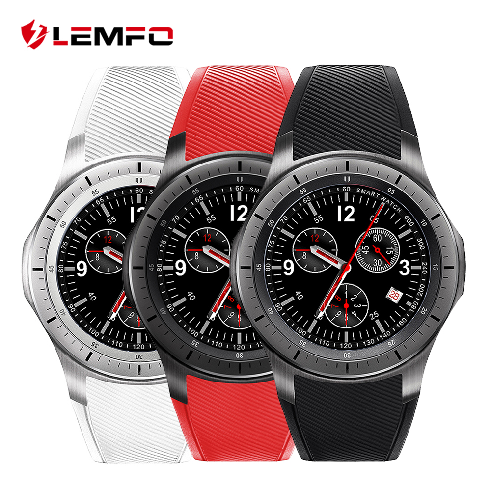 LF16 LEMFO Bluetooth Inteligente Watch Phone WIFI GPS 3G WCDMA Android Smartwatch relógio de Pulso Wearable Dispositivos