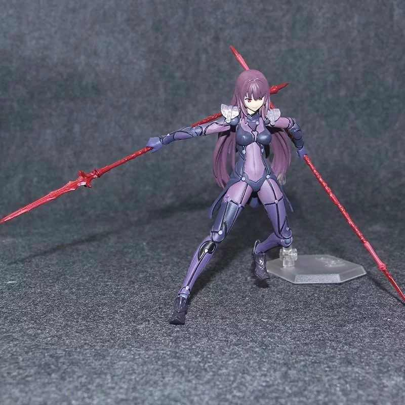 New Figma 381 Anime Fate Grande Ordem Lancer Scathach PVC Action Figure Coleção Brinquedos Modelo 15 cm Presentes de Aniversário de Natal