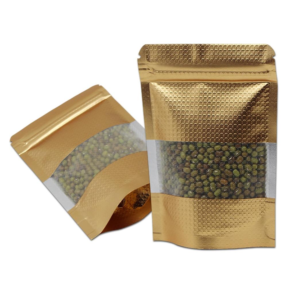 18*26 см герметизируемый алюминиевый мешки из фольги термозастежка стоьте вверх бобы сушеные горшок для цветов сумка Прозрачное пластиковое