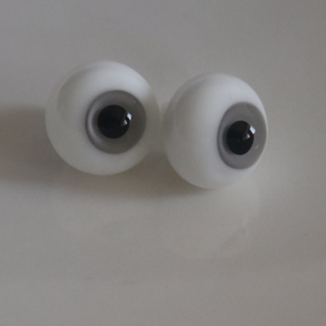 BJD doll accessories glass eyes gray color 14mm