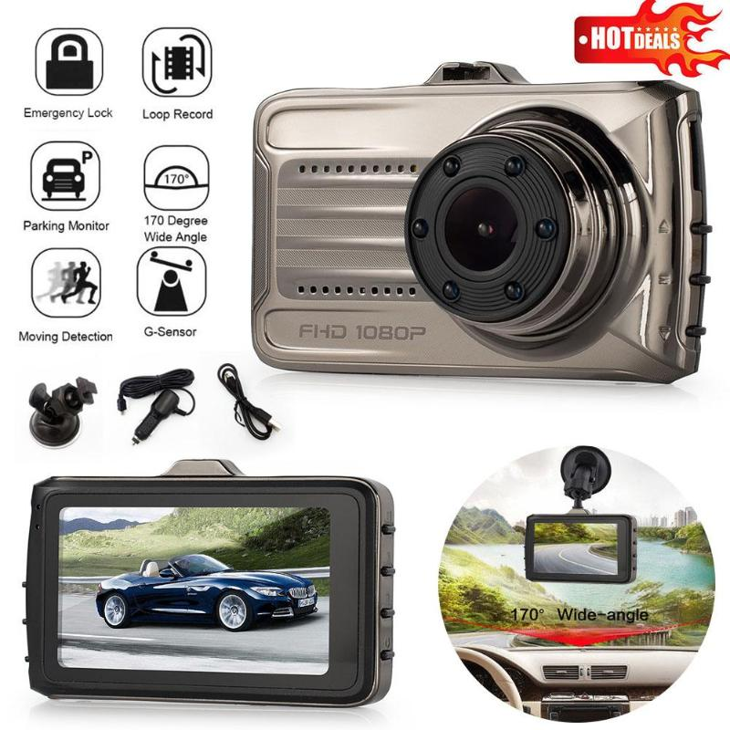 ALLOYSEED 3 IPS Screen Car Portable DVR 1080P FHD 170 Degree Wide Angle Lens Vehicle DVR Camera Night Vision Dash Cam Recorder