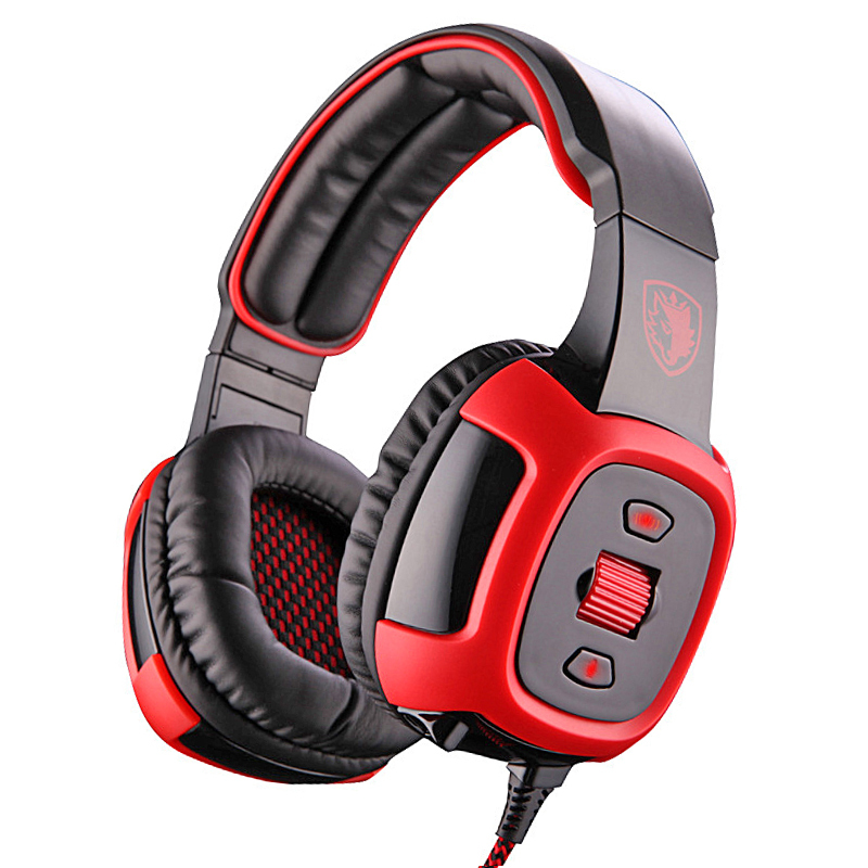 Sades SA906i Professional Gaming Headphone Headset for PC Gamer USB 7.1 Surround Stereo Bass Audifonos Game Earphone with Mic sades a60 alloy stereo 7 1 surround pro gaming headphone usb headband pc noteboo