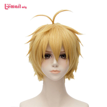 L-email wig Brand New The Seven Deadly Sins Meliodas Cosplay Wigs Heat Resistant Synthetic Hair Perucas Cosplay Wig цена