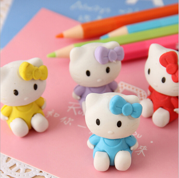 [4Y4A] Cat Modeling Rubber Eraser Special Rubber Student Modeling Pencil Eraser Cleansing Kid Child School