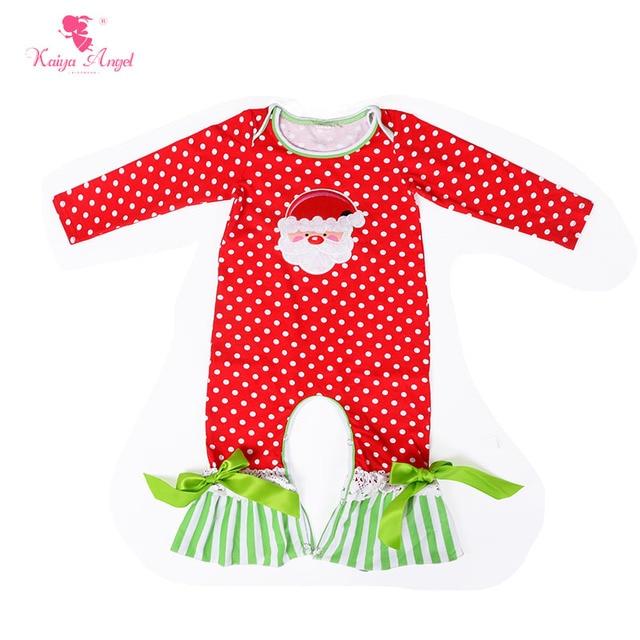 608348bd0256 Kaiya Angel Baby Rompers Santa Claus Christmas Newborn Baby Jumpsuit ...