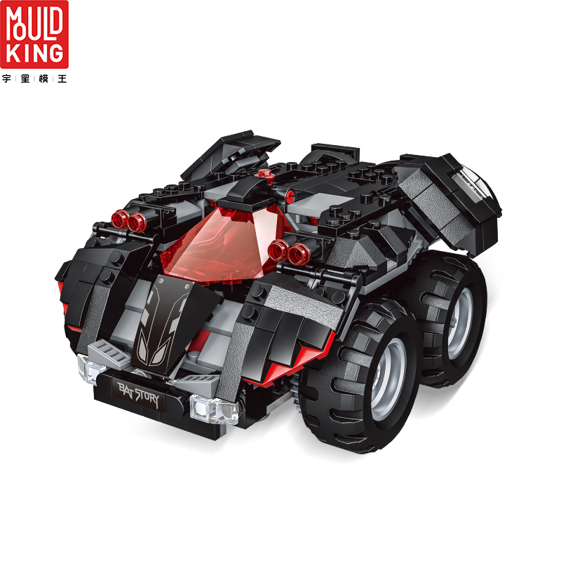 MOULD KING 13020 13030 RC Car Racing Bat Story Batmobile Remote Control Building Blocks Legoing Technic 76112 Toys Gift Bricks