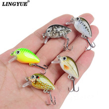 LINGYUE 5PCS/Box Hard Mini Crankbaits Small Cranks Baits Fishing Lures 3cm/1.8g Wobbler Good Painting Fishing Tackle